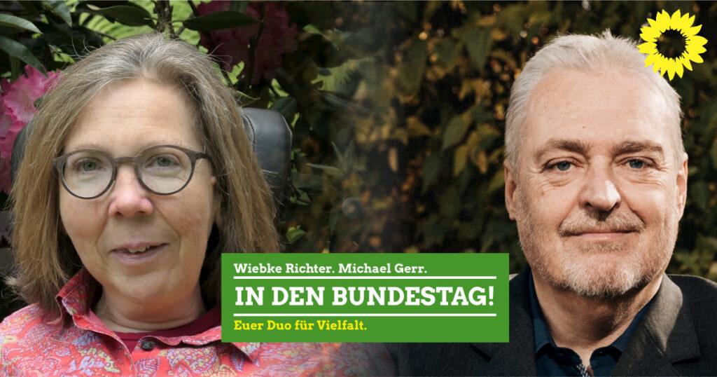 Wiebke Richter und Michael Gerr in den Bundestag