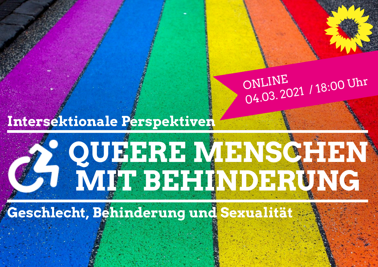 Regenbogenfarben - Queere Menschen mit Behinderung