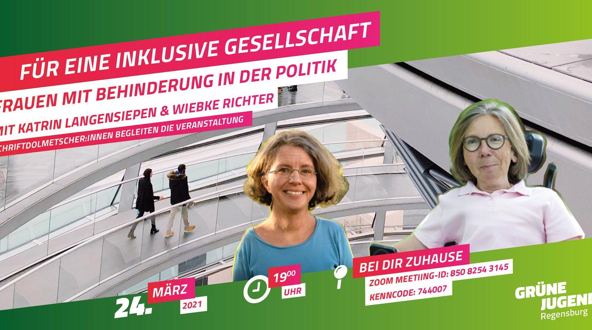 Sharepic mit Katrin Langensiepen und Wiebke Richter